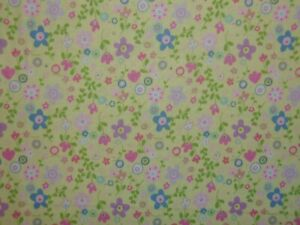 CLEARANCE 6 YARDS Church Kitchen Ladies Floral Yellow Fabri Quilt Cotton Fabric