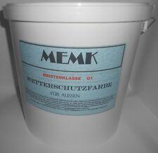 (6,67€/L.) Wetterschutzfarbe Holzfarbe Farbe Weiss Weiß  12 Liter Eimer