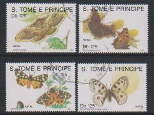 St Thomas & Prince Islands - 1991 Butterflies set - F/U (a)