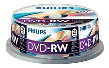 Philips DVD-RW 120 Min 4X 4.7 GB - 25 Pack Huso