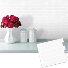 3D Self Adhesive Subway White Tile Wall Sticker Kitchen Bathroom Home Decor W7