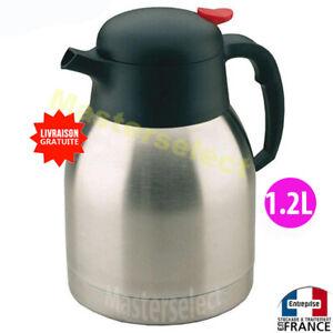 Pichet bouteille thermos inox 1.2L pour chaud / froid ,café thé eau, isotherme