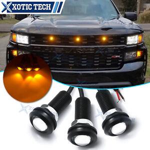 Raptor SVT Style Pickup LED Amber Grille Mark Light for Chevy Silverado Colorado
