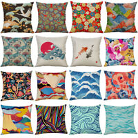 Japanese Style Pillowcase Linen Pillow Case Shop Sofa Cushion Cover Home Decor