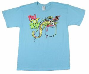 Fall Out Boy Monster Pocket Blue T Shirt New Official Band Merch