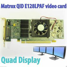 Matrox QID-E128LPAF PCI Express x16 128MB Quad Digital Analog Low Full Profile
