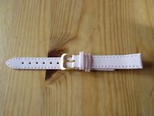 NEW PINK Ladies Genuine Leather Watch Band Strap Size 14 mm