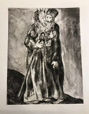 Marc Chagall etching Bible Series Moses And Aaron Edition Of 295