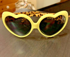 Kids Yellow Heart And Leopard Frame Glasses ADORBS!