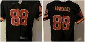 Tony Gonzalez #88 Kansas City Chiefs NFL Reebok Black Jersey Youth Medium Rare