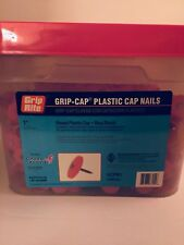 """Over 2,000 Grip-Rite 1"""" Plastic Cap Nails - Resealable Bucket(Opened)"""