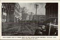 Putnam CT 1936 Flood Postcard #7