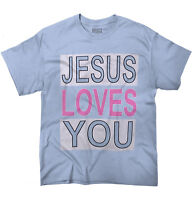 Jesus Christ Loves You Christian Religious T-Shirts T Shirts Tees For Womens
