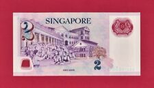 $2.00 SINGAPORE UNC POLYMER NOTE (Pick-46a) 1st Note Issued In The Series - NPA