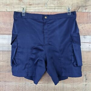 Vintage Cannondale Men's 38 Padded Cycling Shorts Blue
