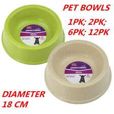 12 X Medium Bamboo Fibre Dog Cat Puppy Pet Food Water Feeding Bowl Feeder Dish