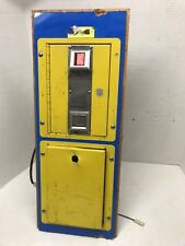 Taito ? Carnival Type Coin Door Assembly USED Arcade #4325 NOT TESTED Wood Base