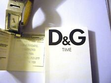 women's watch D&G Time stainless steel case white leather strap accurate time
