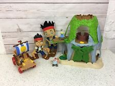 Jake And The Neverland Pirates Bundle. Includes Mini Buggy Figures& Tiki Hideout
