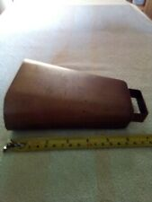 Vintage Brass Metal Cow Bell  7inches tall