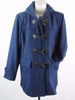 Michael Kors Women's Sapphire Blue Toggle Closure Wool Blend Coat Size PXL