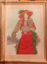 Joan Elliott Ruffles In Red Historical Lady Christmas Cross Stitch Chart