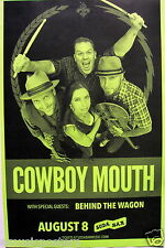 Cowboy Mouth / Behind The Wagon 2015 San Diego Concert Tour Poster - Rock Music