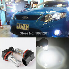 2x white CREE H11 80W projector LED globe for Ford Falcon FG xr6 xr8 foglights