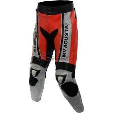 Mv Agusta SPORTS Rot & Silber Motorrad Biker Ce Leder Hose Jeans