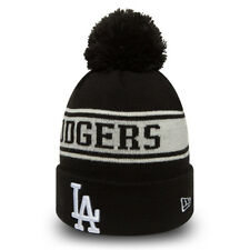 b100f2e21bb NEW ERA LA DODGERS JAKE NEYYAN BOBBLE HAT.MLB MENS WOMENS BLACK KNIT BEANIE  8W