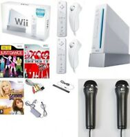 Wii Console Nintendo BOXED 2 Player Remotes, Just Dance, Girls Bundle + 2 Mics