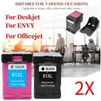 2X Per cartuccia d'inchiostro ricaricabile per stampante HP 61XL Officejet 4639