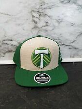 Adidas MLS Portland Timbers Authentic Team Snapback Fit Hat Green Khaki New
