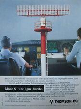 12/1990 PUB THOMSON CSF SDC MODE S RADAR ORLY PILOTE CONTROLEUR ATC FRENCH AD