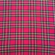 Cerise Pink Stewart Tartan Check Fabric by the METRE  W147cm