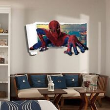 3D Spiderman Wall Stickers New Home Decor Cartoon For Kidu0027s Rooms Wall  Decals