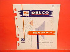 1946-1956 DELCO GM RADIO ELECTRONIC PARTS CATALOG SPEAKERS CHEVROLET CADILLAC