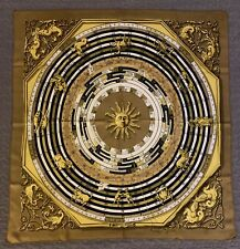 Authentic Foulard Dies Et Hore HERMES Paris 100% seta Mint Condition