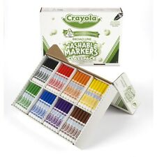 Crayola Ultra-Clean Washable Markers Classpack - Broad-Line - 200ct - 8 colors