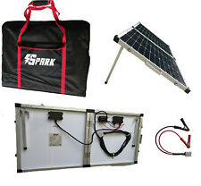 100W Folding Solar Panel Battery Charger Kit Waterproof PWM Controller Car Boat