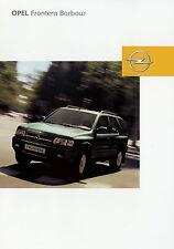 Prospekt 2003 Opel Frontera Barbour Autoprospekt 2 03 Geländewagen Pkw Auto
