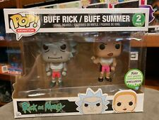 Buff Rick and Buff Summer 2 Pack Funko Pop Vinyl US Excl EXPERT PACKAGING