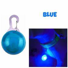 Pet Cat Dog Safety LED Clip Buckle Night Light Flashing Collar Pendant Neon Blue