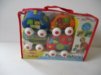 Melissa & Doug Pull Back vehicles Baby Toddler Daycare Toy Lot