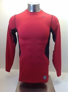 Hyperwarm Dri-Fit Max Fitted Crew Men's Size S-M New with Tags 479923 652 Red