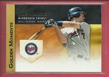 Joe Mauer 2012 Topps Golden Moments Insert Card # GM-28 Minnesota Twins Baseball