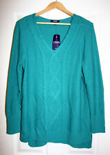 Ralph Lauren Chaps Womens Plus 3X Turquoise Pullover Sweater NWT