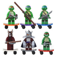 TMNT ninja turtles leonardo raphael michelangelo donatello figure blocks 6 piece