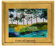 Natasha Petrosova   Original Oil  Modern Painting Forest Flowers trees 695044