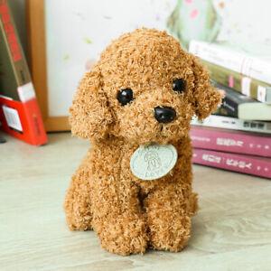 Lovely Teddy Puppy Dog Plush Fluffy Fur Stffed Doll Baby Kids Boy Girls Toy Gi*d